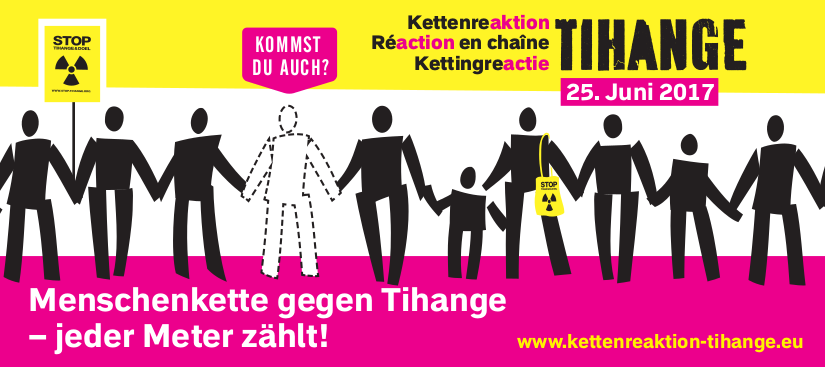 Aktionsflyer Menschenkette